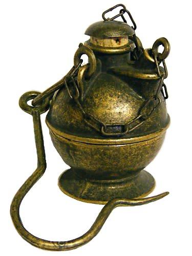 Antica Soffitta: Lume olio ottone sughero minatore lampada ...