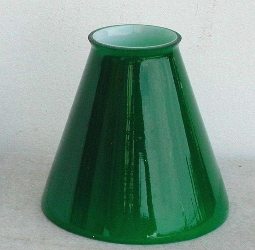 paralume vetro 11cm cono verde ricambio lampada lampadario paralume in ...