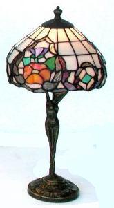 antica soffitta lampada tiffany 43cm risveglio liberty floreale tavolo abat jour. Black Bedroom Furniture Sets. Home Design Ideas