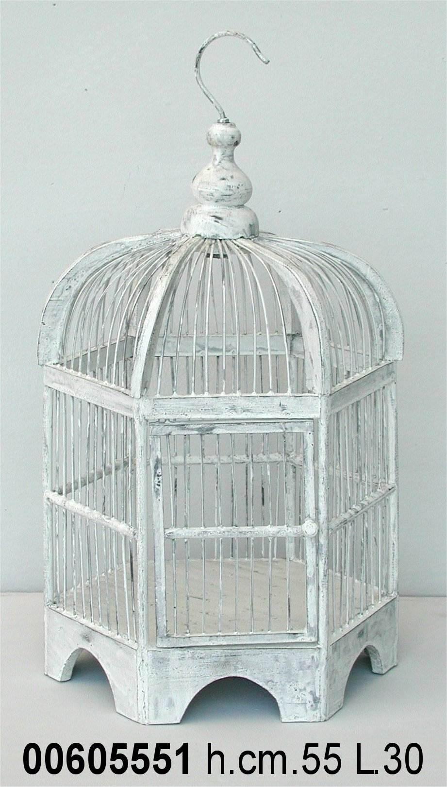 Antica soffitta gabbia per uccelli decorativa esagonale - Lanterne portacandele ikea ...