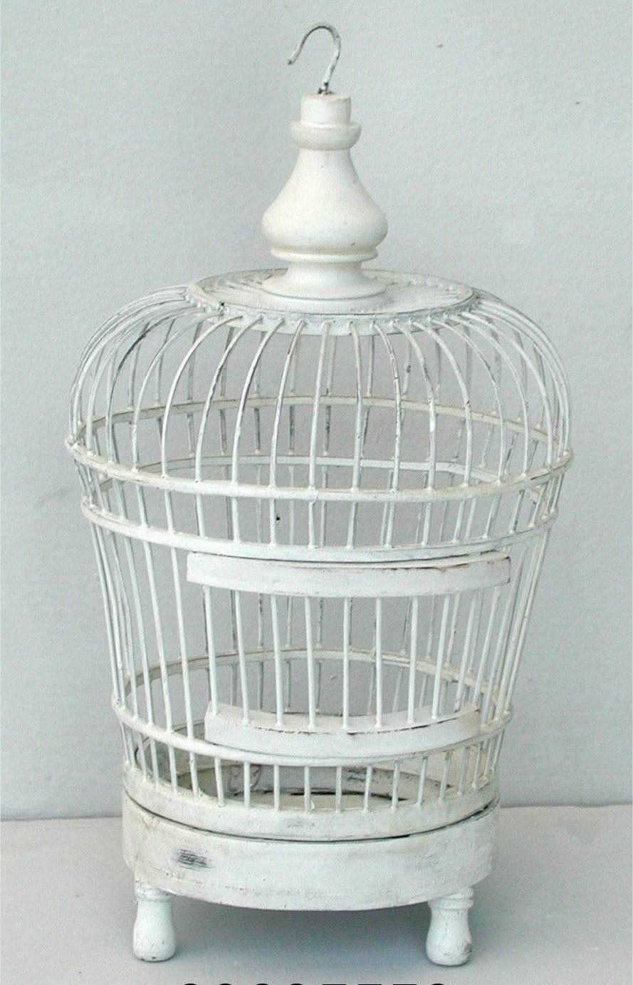 Antica Soffitta: Gabbia per Uccelli Decorativa 30cm shabby chic ferro legno