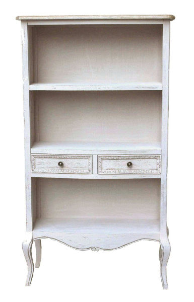 Antica soffitta libreria mobile sala 143cm legno bianco for Mobile sala bianco