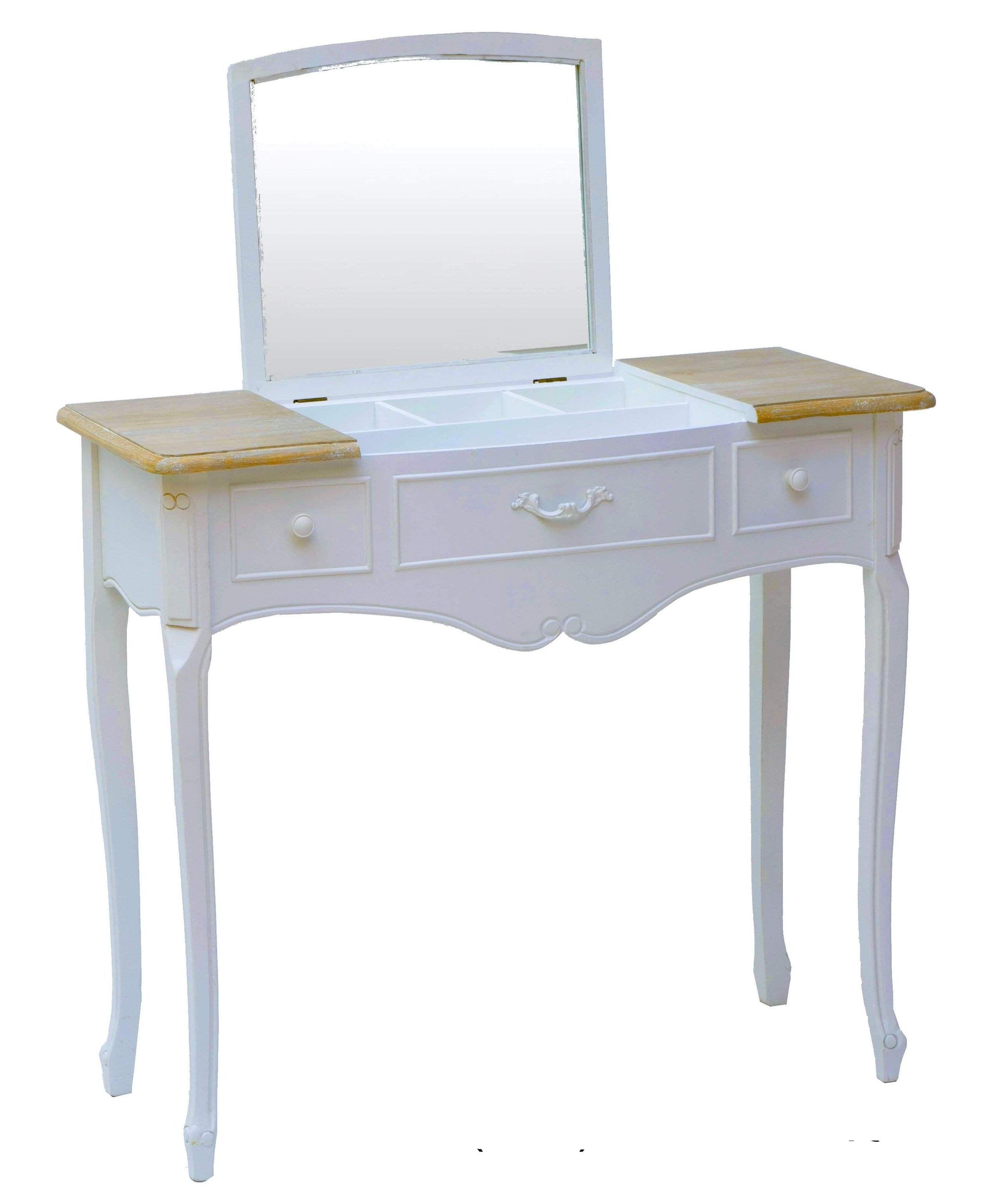 Antica soffitta toletta con specchio scrittoio legno bianco nocciola consolle sh - Toletta con specchio ...