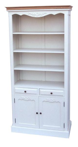 Antica soffitta libreria mobile sala credenza legno for Mobile sala bianco