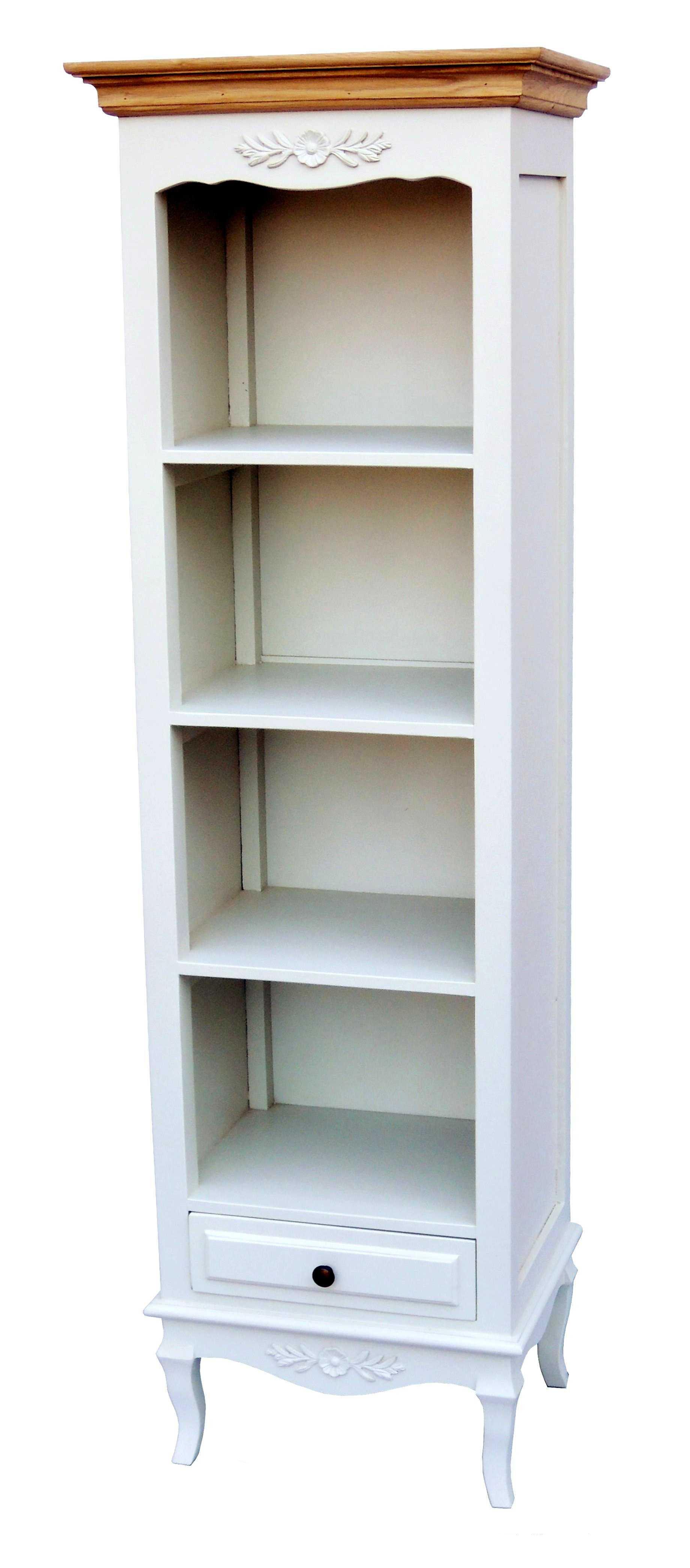 Antica soffitta libreria scaffale 161cm legno bianco e for Scaffale legno bianco