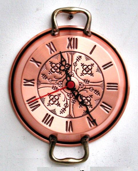 Antica soffitta orologio parete 18cm manici pentole rame for Orologio muro vintage
