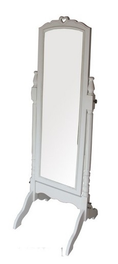 Antica soffitta specchio cornice bianca specchiera da - Specchio cornice bianca ...