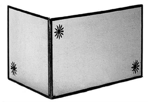 antica soffitta parascintille ferro angolare 81 50 alto