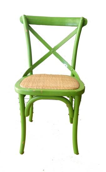 Antica soffitta sedia in legno verde country moderno 85cm for Green arreda