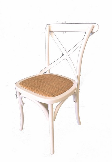 Antica soffitta sedia in legno bianca shabby chic 85cm - Sedia bianca legno ...