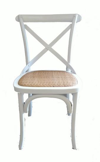 Antica soffitta sedia in legno bianca shabby chic 85cm for Sedia bianca cucina