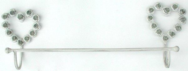 Antica soffitta porta asciugamani ferro 61cm rose shabby - Altezza porta asciugamani ...