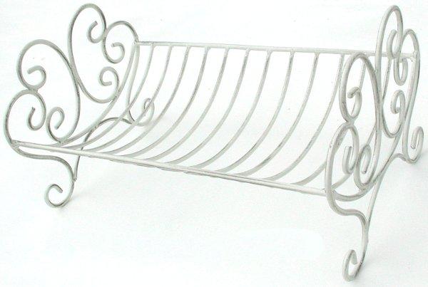 Antica soffitta scolapiatti porta piatti ferro bianco - Mensola porta piatti ...