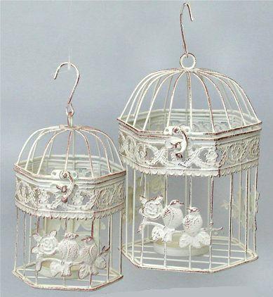Antica soffitta coppia gabbie uccelli vintage 23cm shabby - Lanterne portacandele ikea ...
