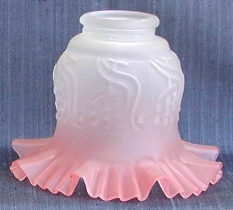 Antica Soffitta: Paralume vetro 16cm spagna bianco rosa ricambio ...