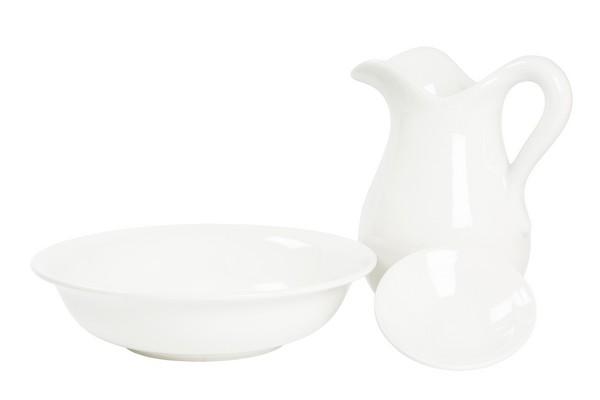 Antica soffitta set da toilette ceramica bianca lucida - Portaombrelli in ceramica bianca ...