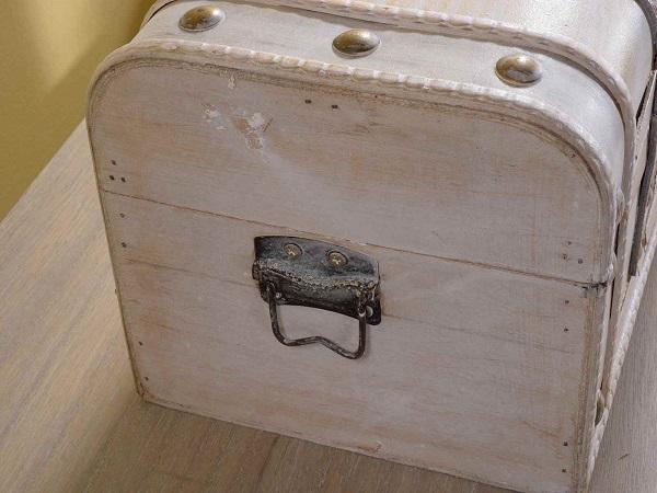 Legno Bianco Vintage : Antica soffitta set valigie baule scatola vintage legno bianco