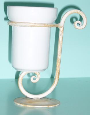 Antica soffitta porta bicchiere ferro relax avorio oro arredo bagno - Porta per soffitta ...