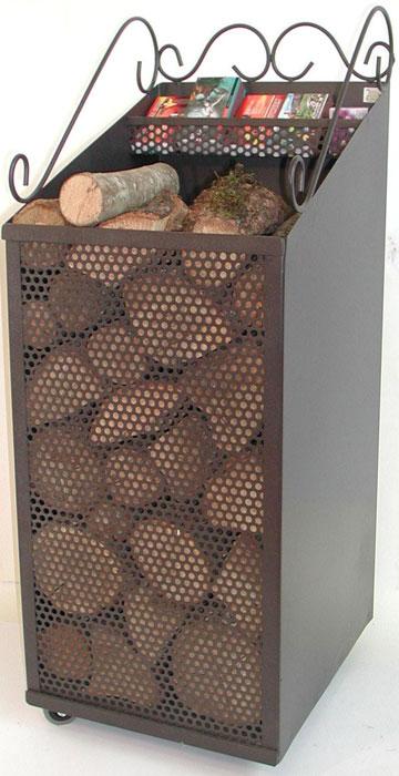 Antica soffitta carrello porta legna portalegna o pellet - Porta legna per camino ...