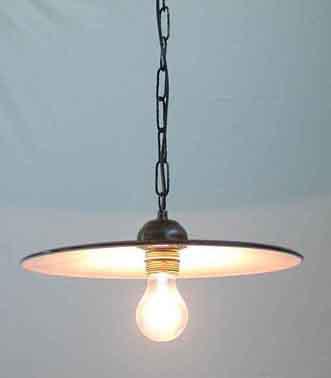 lampadari vecchi : lampadario 32cm sospensione catena piatto semplice ferro lampadario ...