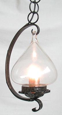 lampadari per rustico : Lampadario 24cm Gancio ferro battuto rustico country shabby