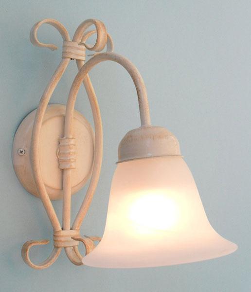 ... : Applique Fiaba in ferro battuto avorio lampada da parete country