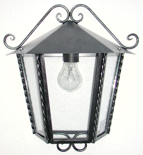 mezza lanterna da parete esterno ferro battuto applique da esterno ...