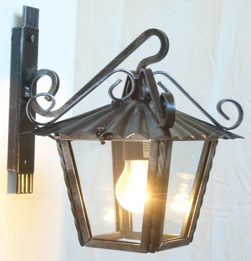 Antica Soffitta: Applique Lanterna 21cm da parete esterno ferro battuto rustica