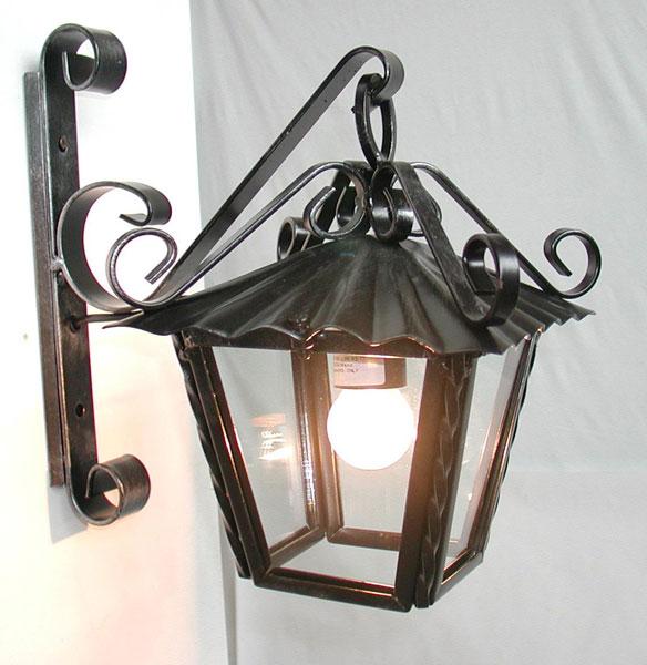 da Esterno » Applique Lanterna 30cm da parete esterno ferro battuto