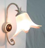 Antica soffitta applique nuvola avorio oro lampada da parete ferro battuto - Applique da parete in ferro battuto ...