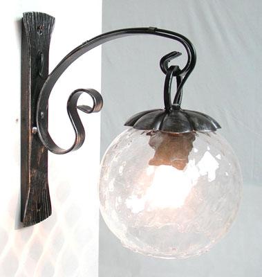 Antica soffitta applique margherita ferro battuto rustica - Lanterne da esterno in ferro battuto ...