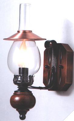 lampadari per taverna : ... Soffitta: Applique Rame parete legno rustica per taverna casa montagna