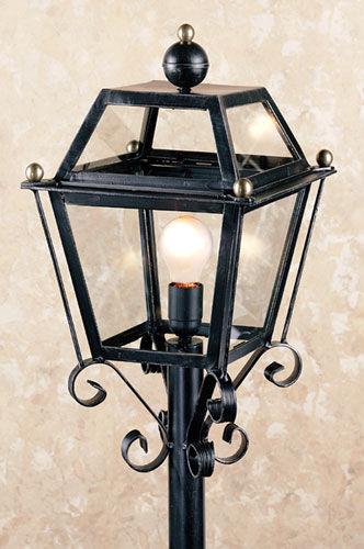 Antica soffitta lampione da giardino pomoli esterno ferro - Lampioni in ferro battuto da esterno ...