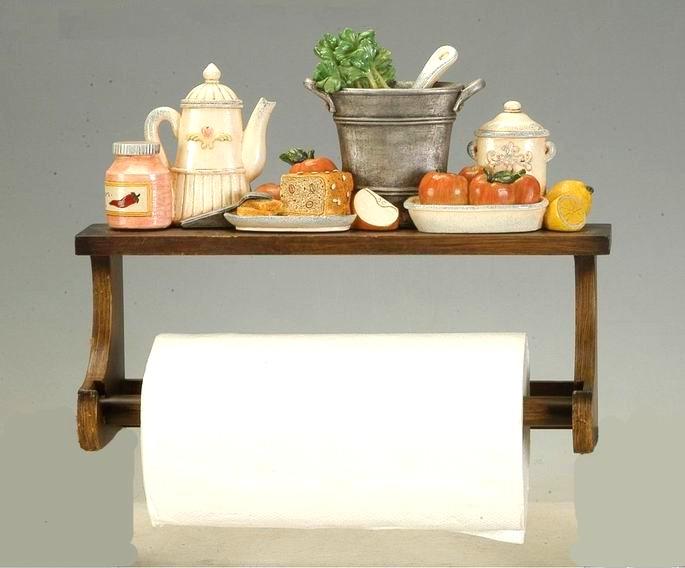 Antica soffitta portarotolo rotolo secchio carta cucina - Portarotolo cucina ...