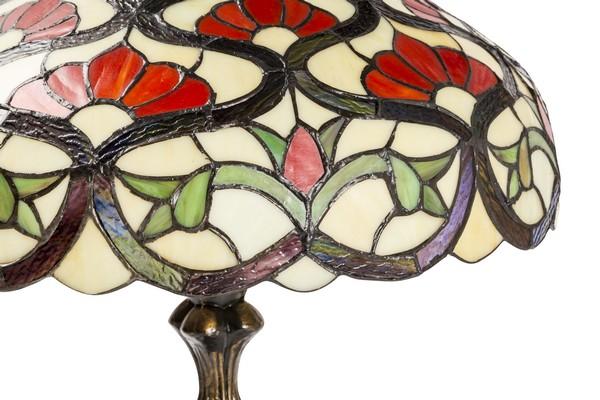 Plafoniere Stile Tiffany : Antica soffitta lampada tiffany rosso liberty fiori ottone