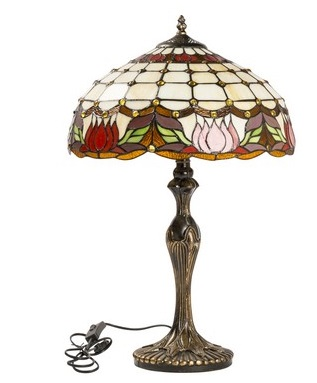 Antica soffitta lampada tiffany liberty fiori tulipani - Lampade tiffany da tavolo ...