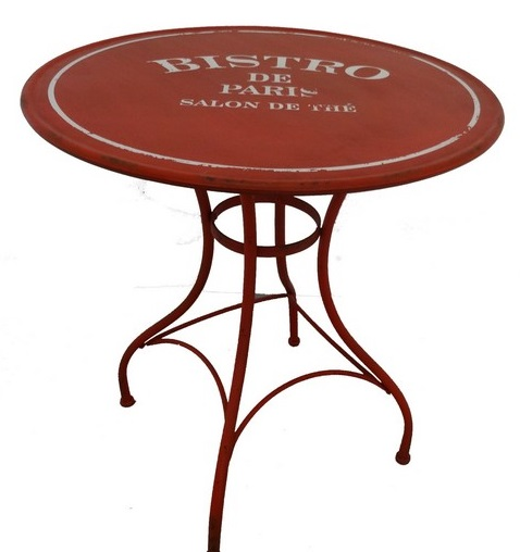 Antica soffitta tavolino rotondo tavolo ferro casa pub bar negozio vintage bistr - Tavolo rotondo vintage ...