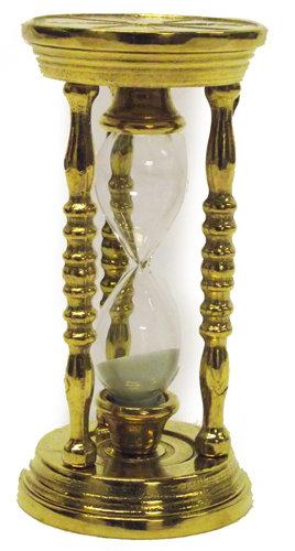 Antica soffitta clessidra da scrivania tavolo ottone contaminuti regalo segnatem - Clessidra da tavolo ...