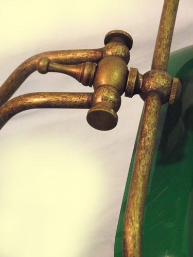 Lampada Da Scrivania In Ottone.Antica Soffitta Lampada Ministeriale 45cm Da Scrivania Ottone