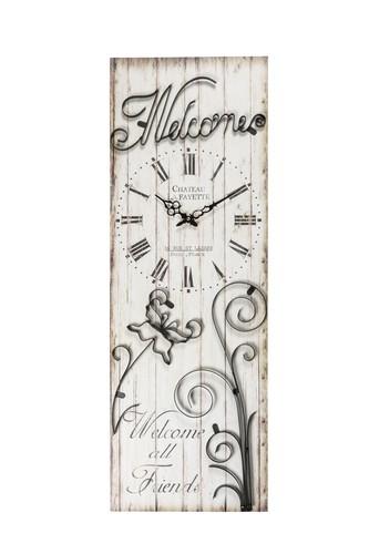 Antica soffitta orologio da parete rettangolare legno - Scritte in legno shabby ...