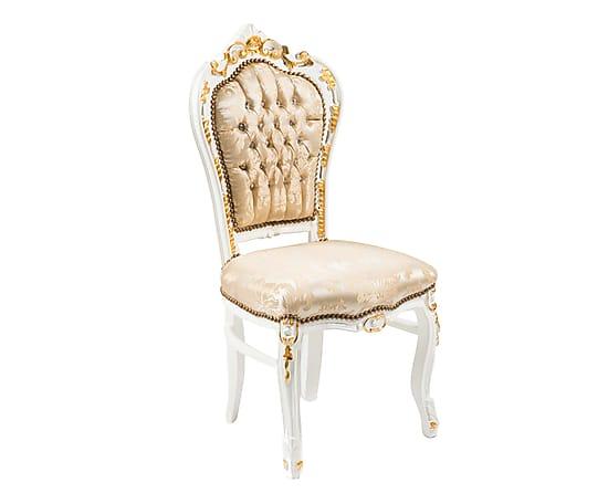 Antica soffitta sedia barocco luigi tessuto damascato oro for Sedia da letto