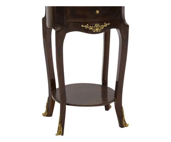 ... : Tavolino rotondo in legno noce 3 cassetti tavolo salotto Impero