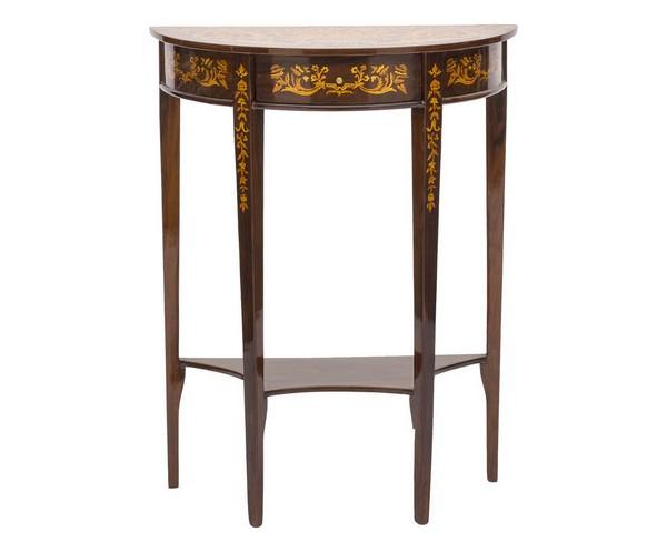 Antica soffitta consolle tavolo legno noce 70cm vintage for Tavolo consolle noce