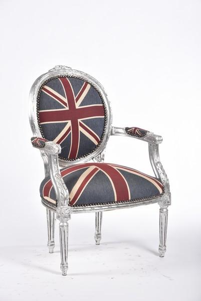 disegno lampadari Tessuto : Poltrona barocco medaglione silver argento bandiera uk inglese. Misure ...
