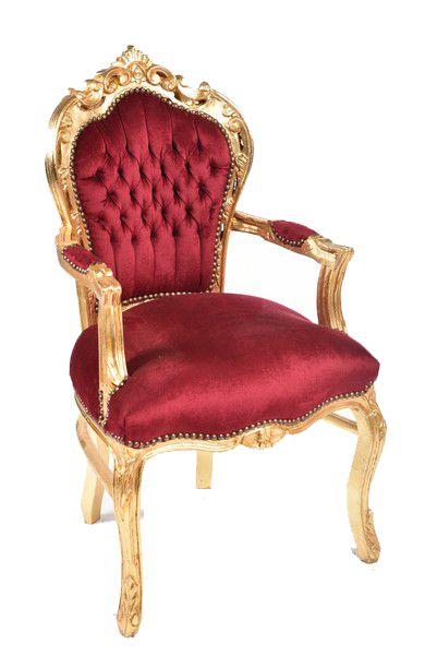Antica soffitta poltrona barocco steel tessuto oro rosso for Consolle argento economica