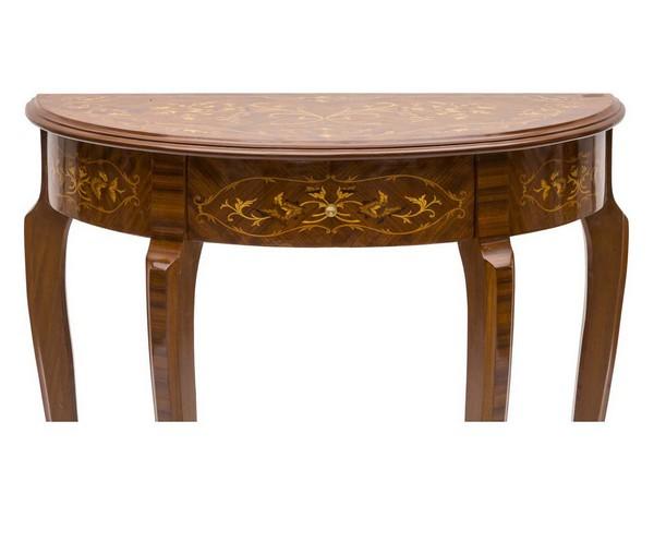 Antica soffitta consolle tavolo in legno nature noce ocra for Tavolo consolle noce