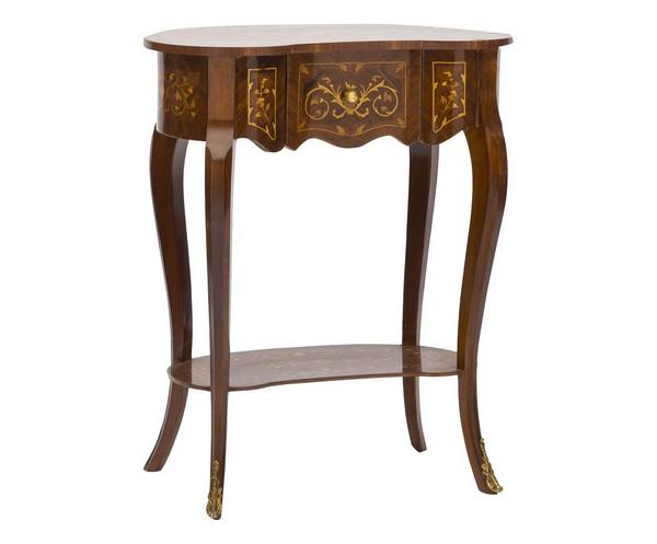 ... Soffitta: Tavolino in legno noce forma fagiolo tavolo Impero salotto