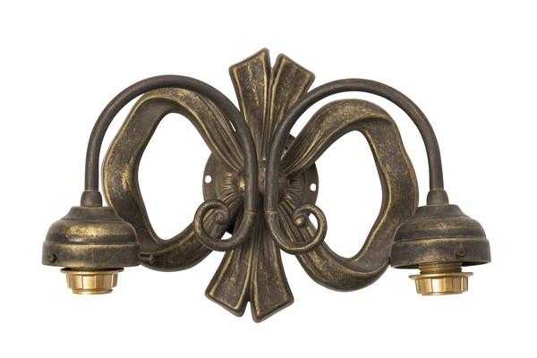 Antica soffitta applique nodo nastro ottone luci vintage da