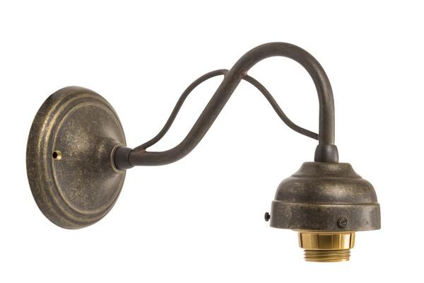 Lampada Vintage Da Parete : Antica soffitta: applique ottone brunito vintage curvo lampada da parete