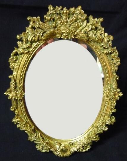 Antica soffitta arreda con stile - Specchio ovale vintage ...